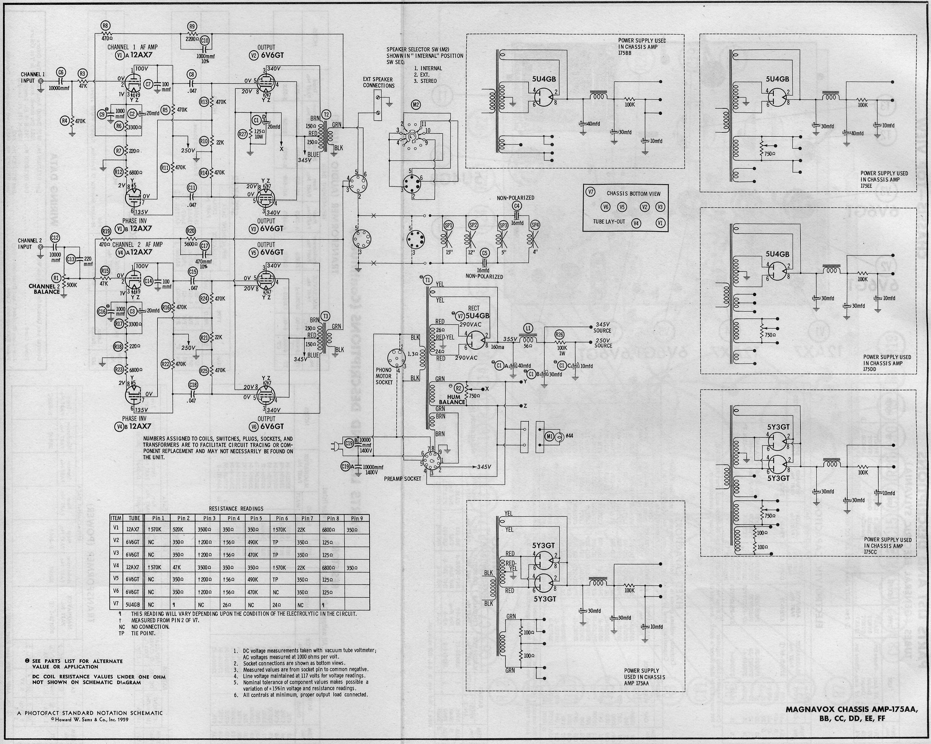What Do You Think The Circuit Is Simple One 5y3 Rectifier Tube One12ax7 For Click Image Larger Version Name Mag175