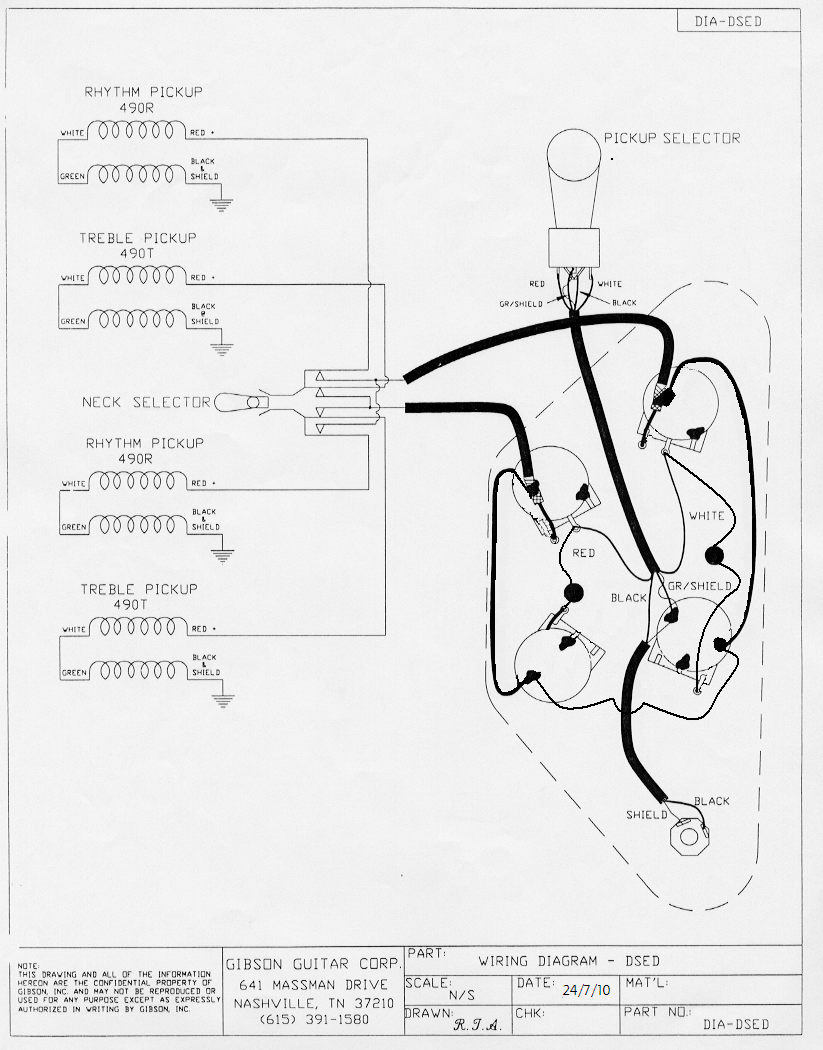 Double Neck Sg Wiring Diagram