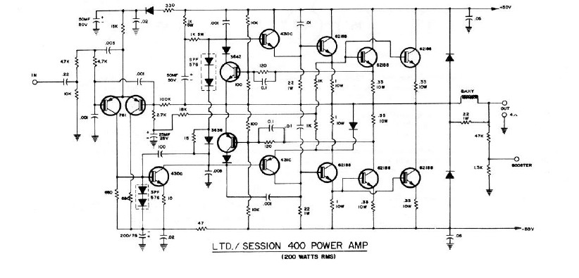 Peavey Session 400 Power Board Layout