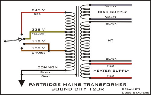 Power Transformer Wiring Diagram
