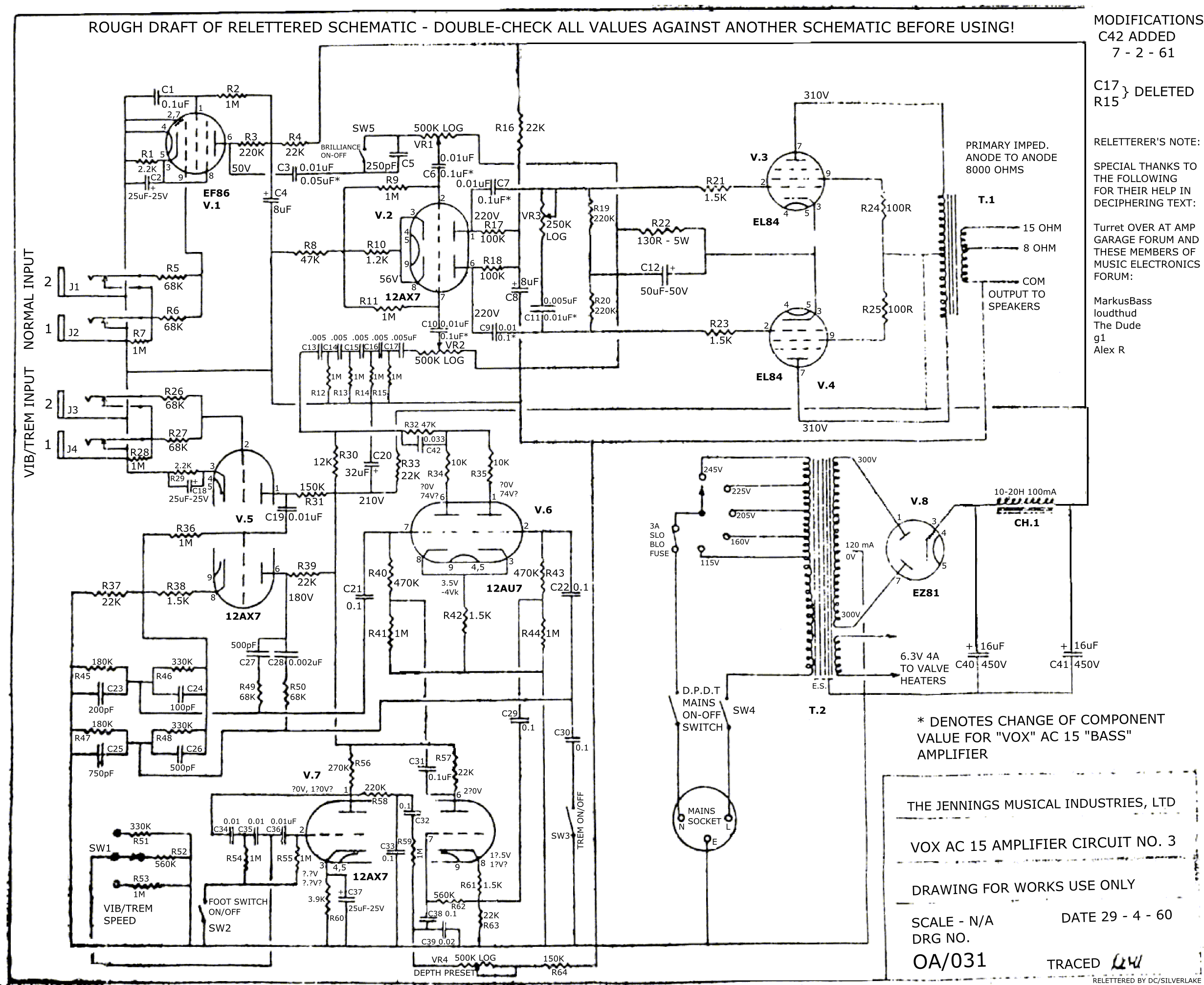 Vox Historians Help Reading Minutiae On 1960 Ac15 Oa 031 Schematic Ac30 Wiring Name Ac 15 29 04