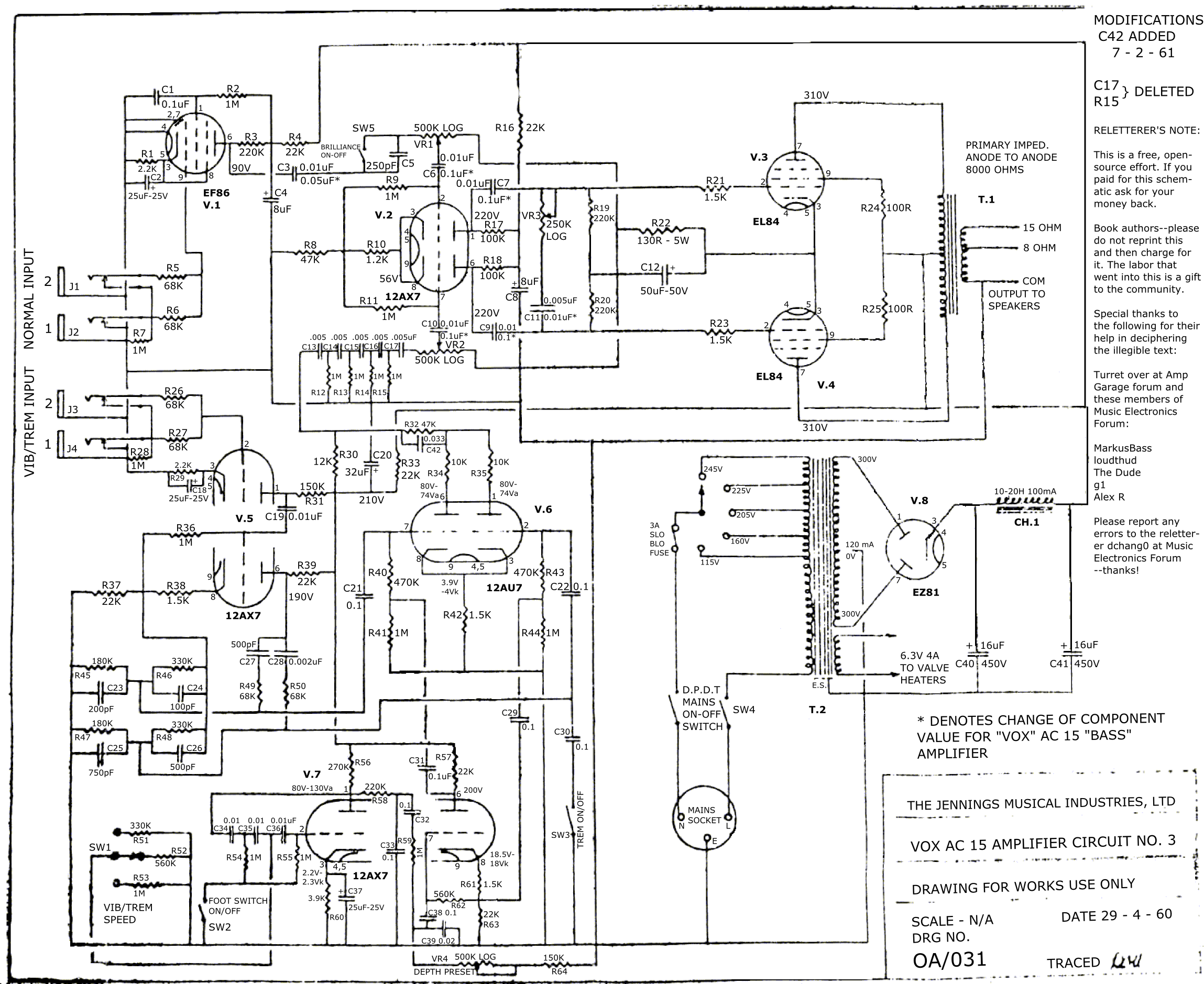 Click image for larger version.  Name:Vox AC-15 29-04-1960 OA-031 Schematic Relettered 1.0.png Views:2268 Size:979.8 KB ID:36777