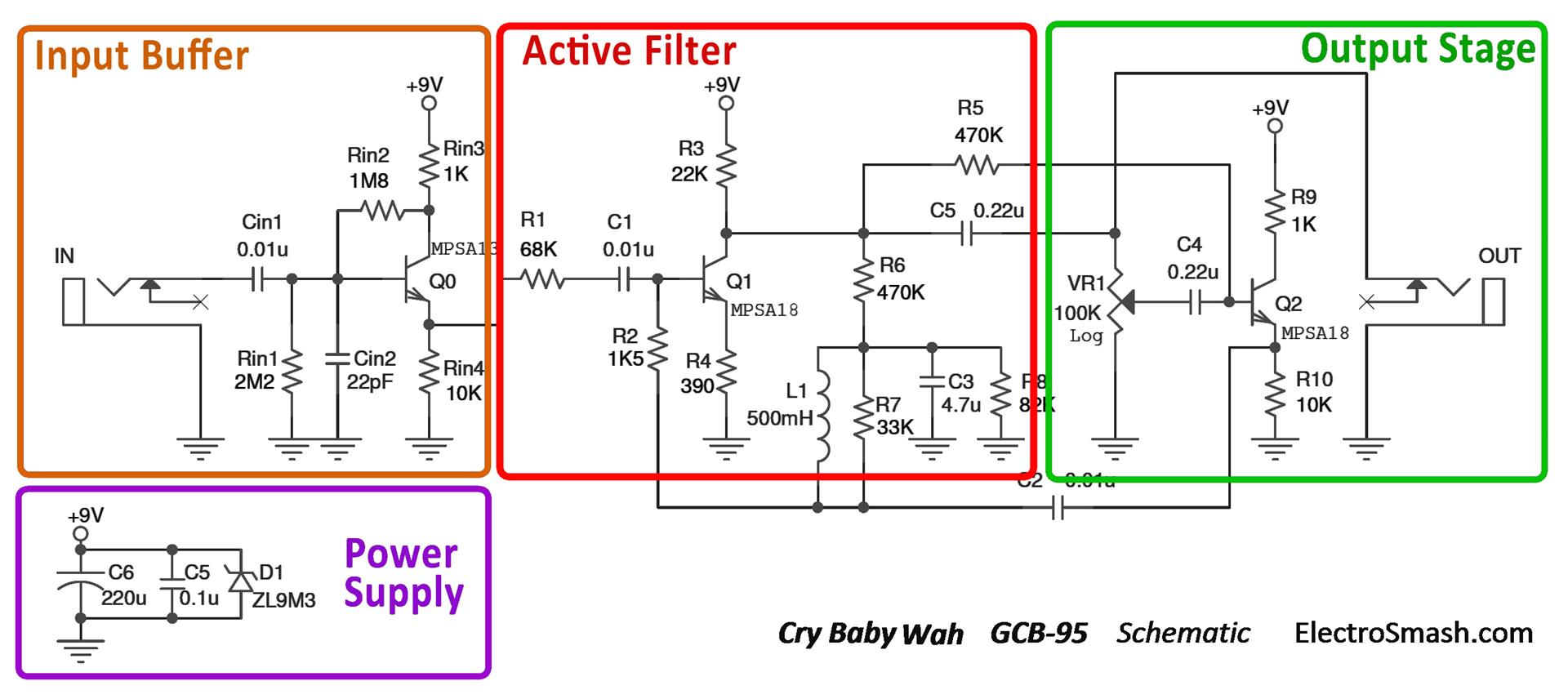 Potentiometers Always Have Static Scratching Noise Hammond M2 Wiring Diagram Click Image For Larger Version Name Cry Baby Wah Gcb