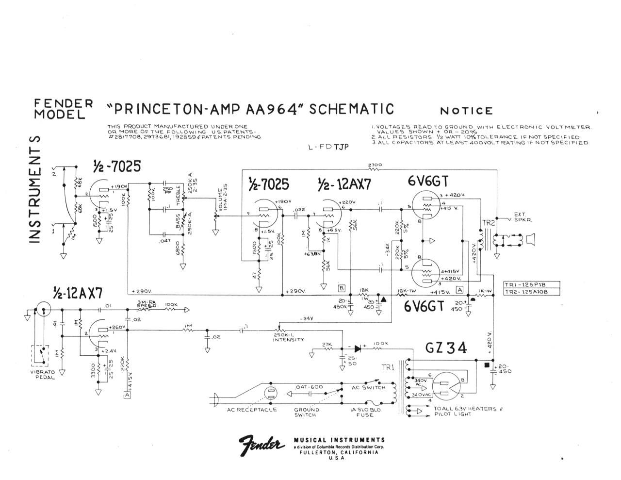 Click image for larger version.  Name:Princeton AA964 Schematic TJP.jpg Views:90 Size:106.7 KB ID:43015