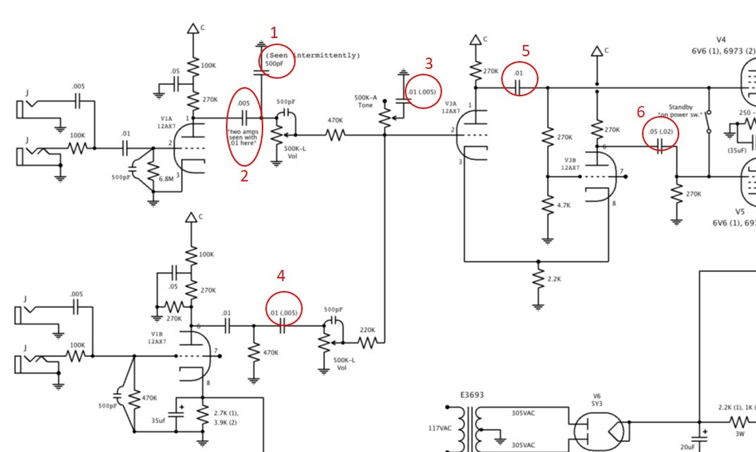 Click image for larger version.  Name:Supro 1624T schematic spots 001.jpg Views:444 Size:105.9 KB ID:43438