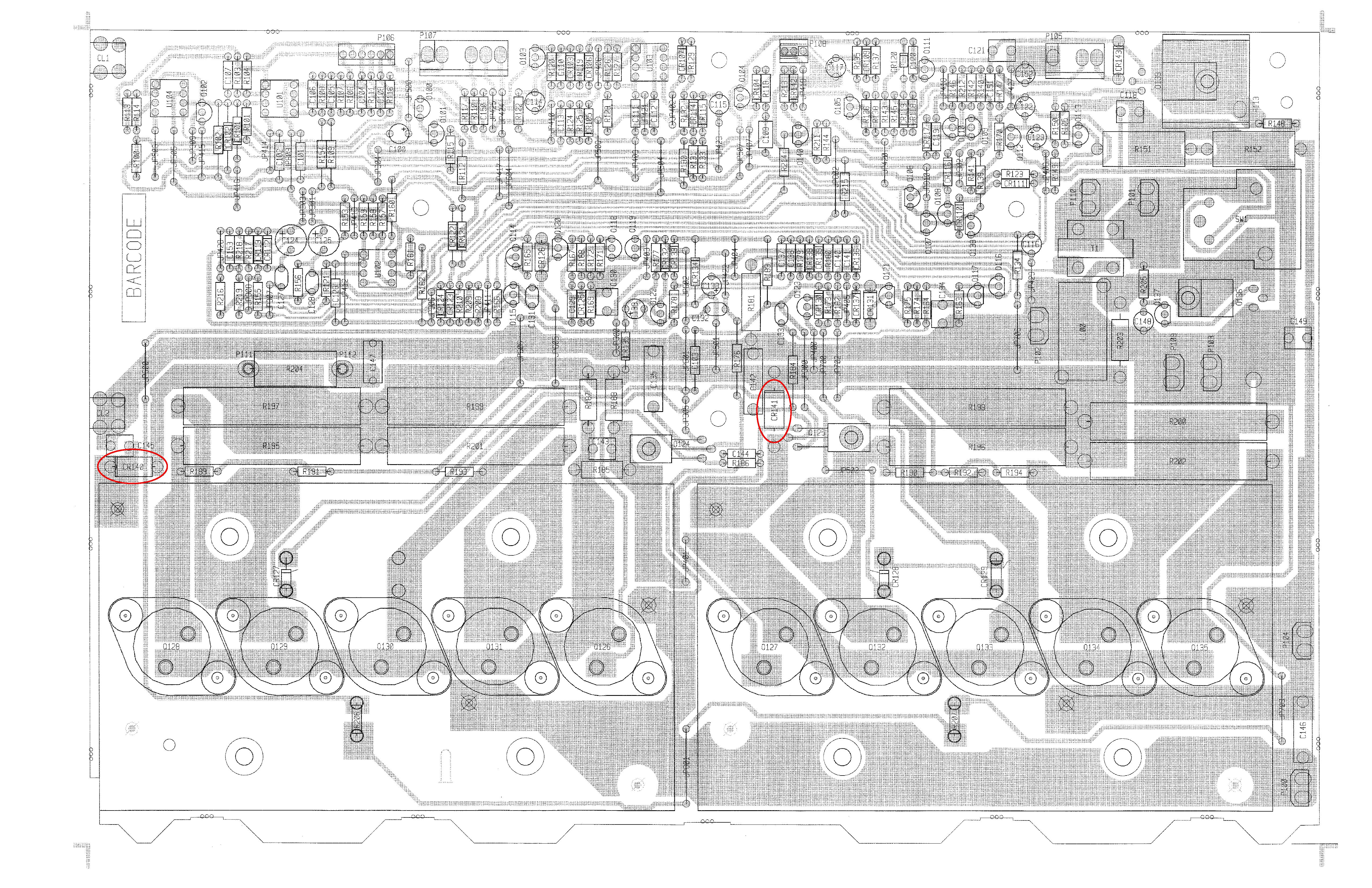 Click image for larger version.  Name:PCB with CR140 & CR141 circled.jpg Views:32 Size:5.33 MB ID:50868