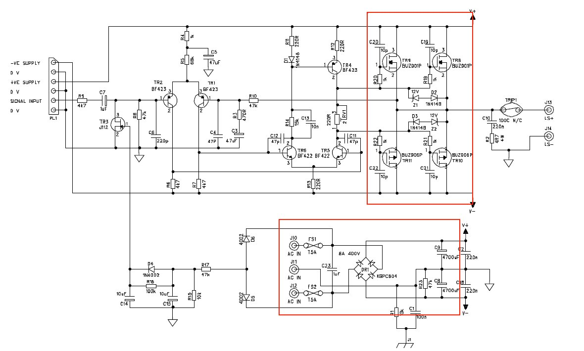 Click image for larger version.  Name:300W MosFet amp + supply.jpg Views:36 Size:103.6 KB ID:52493