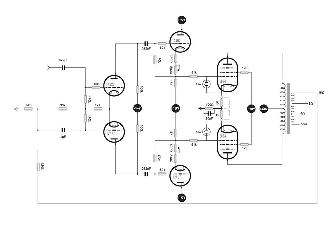 Click image for larger version.  Name:Driver & Output stage 12AX7.jpg Views:23 Size:115.5 KB ID:54334