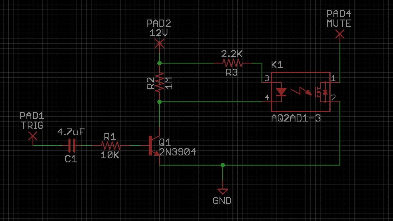 Click image for larger version.  Name:SSR mute with transistor drive.jpg Views:23 Size:221.4 KB ID:57224