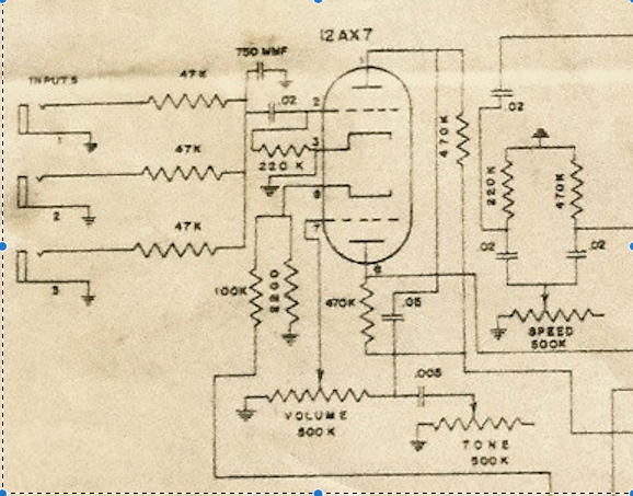 alamo an grid leak bias on tube amplifier circuit schematic, tube phono  preamp,