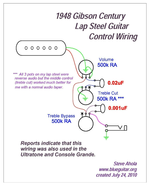 The Mystery Of The Gibson Century Tone Circuit    Revealed