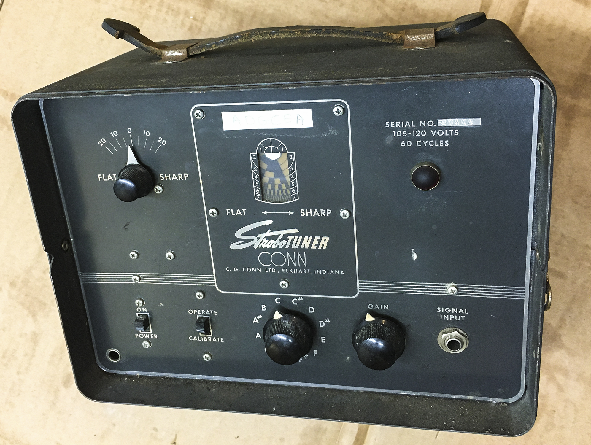 Click image for larger version.  Name:Conn Vacuum Tube StroboTuner Front.jpg Views:39 Size:1.83 MB ID:56581